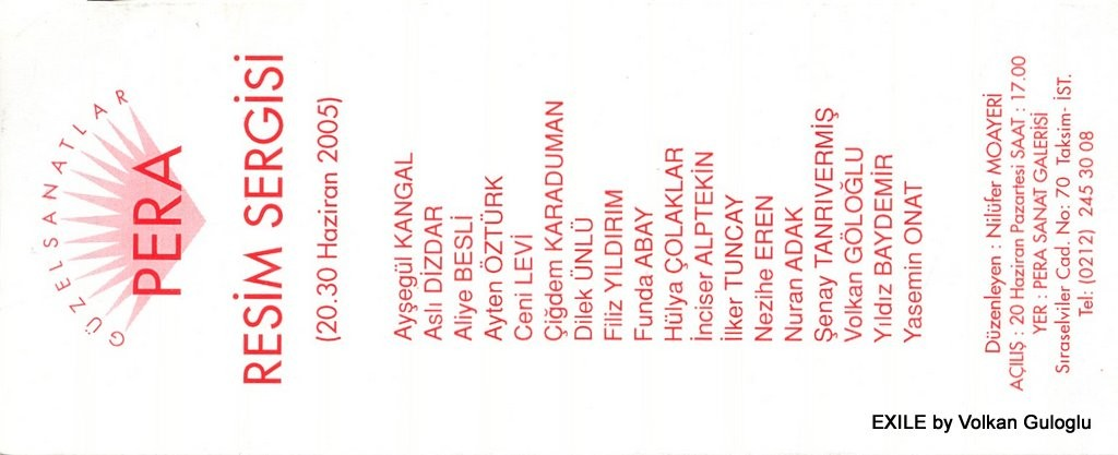 expo, Volkan Guloglu, Peinture, 2005