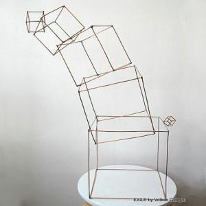Sculptures en fil en metal, Volkan Guloglu