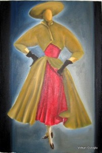 Volkan Guloglu, Peinture, art, sanat, 50's mode, fashion, design,